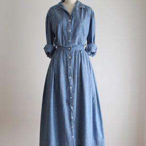 Vintage 1980's Chambray Dress